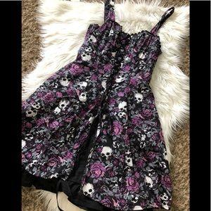 Hot Topic Skull Floral Dress